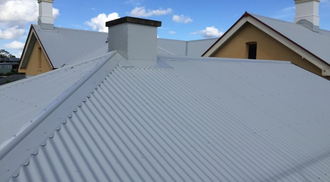 Tin roofing